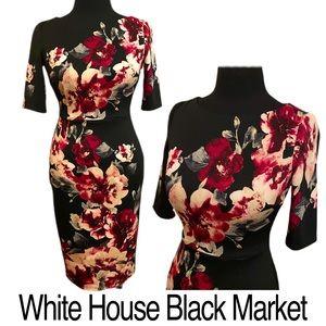 WHBM Women's Floral Bodycon Dress Size 00